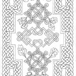 Free Celtic Carpet Page for Coloring ©2017 Sadelle Wiltshire
